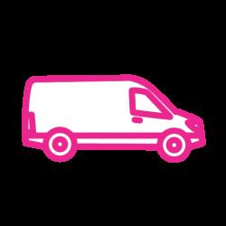 Kombi prevoz ikonica roze
